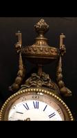 Bronze fireplace clock