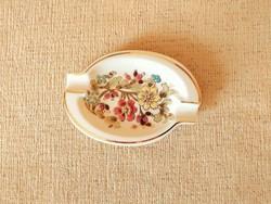 Zsolnay virág mintás porcelán hamutál eladó