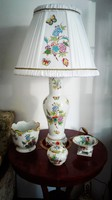 Óriási Herendi QueenVictoria porcelán lámpa új szerelékkel