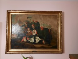 Death of Marcos Botsaris by unknown painter approximately from the second half of XIX. centu