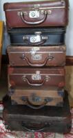 Antik mini bőröndök