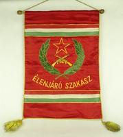 1F888 Régi szocialista Élenjáró Szakasz katonai zászló 46 x 55 cm