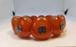 Amber bracelet 60mm in diameter