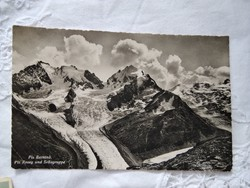 FOGLALT!!! Vintage képeslap/fotólap Svájc Alpok Piz Bernina Piz Roseg und Sellagruppe