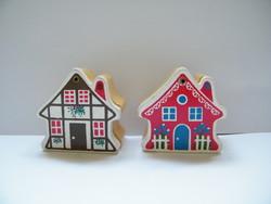 Vintage mini faházikók, Piroska és a farkas, Hófehérke és a hét törpe lakóikkal együtt (Levi Toy)