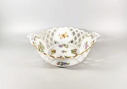 Herend Victoria pattern openwork basket 10 cm., Flawless! (J128)