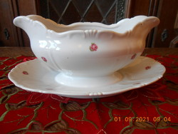 Bowl of Zsolnay small rose pattern sauce