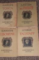 4 db zenei gyűjtemény, kotta könyvek XIX. sz. eleje