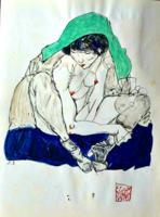 Egon Schiele tanulmányrajz