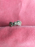 Silver ring with marcasite stones