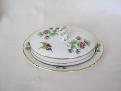 Crowhouse porcelain butterfly with flower lid butter holder