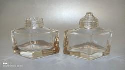 Art Deco üveg fűszeres fűszer tartó kettő darab pótlásra