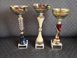 3 pcs decorative goblet / sports goblet / trophy - large sizes