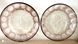 Beautiful engraved lead crystal plates