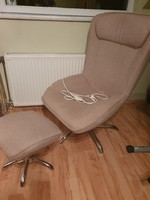 Thermo function relax armchair with footrest