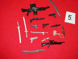 Soldier, warrior action g.I joe star wars and other figures weapon pack in one according to pictures 5