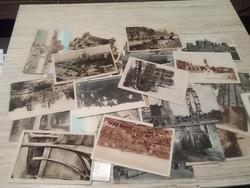 Antik és régi képeslap csomag. Városok épületek.