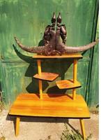 Retro designe flowerpot, stand 70s