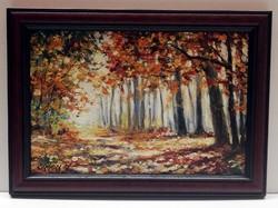 Zoltán Simon - autumn forest (20 x 30, oil, new frame)