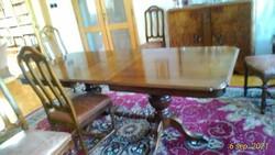 Holland ebédlo asztal + 6 szék