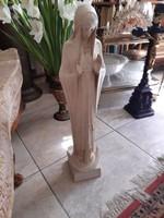 Antik alabárstrom szűzanya szobor 72x10x20cm 1913-ból szignált Eucharisztikus