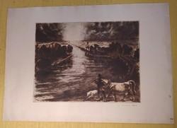 Gyula Komját-Vanyerka (1894-1958) - etching - 29.5 x 38.5 cm.