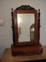 Antique large table toilet mirror, combing