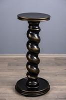 Pedestal, sculpture holder, large size, black.