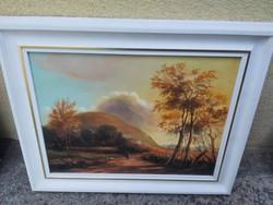 George Laluk, autumn sunset.