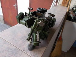 Ww2, German machine gun motorized, 35x25x47cm metal model