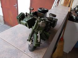 WW2,Német géppuska motoros,35x25x47cm fém  maket