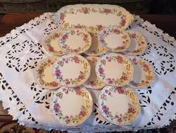 Zsolnay pillangós 12 személyes süteményes készlet
