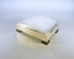 Art deco 0.750 silver card holder box, 15x17 cm. ! (Bt023)