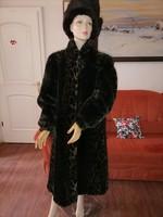 Szebbnél szebbek molett nálam olasz Bergamo luxus bunda 44 46 105  mell sötét tónusú leopárd