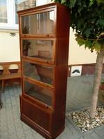 Antique, lingel karoly elements, 5-element bookcase / showcase / bookcase