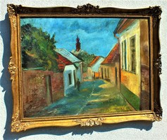 Iilosvai varga, istván kunhegyes, 1895 - 1978, budapest, 60x80 oil on wood