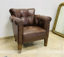 Art deco bőr fotel 1930-as évek