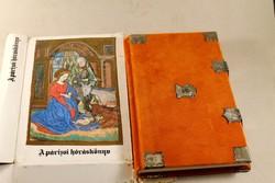 Párizsi hórás könyv szép bársony kötésben eredeti dobozával 495