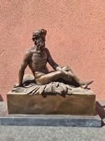 God of rivers - Poseidon Greek god bronze statue representation