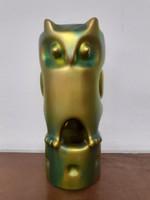 Retro zsolnay porcelain owl figurine. Judit palatine