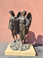 Winged angel 2-shaped bronze statue