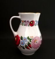Original hand-painted pitcher and spout from Kalocsa