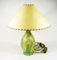 Gorka lívia, retro 1950 bird artistic ceramic table lamp 36 cm, flawless! (G030)