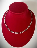 White gold necklace - adorned with diamonds -