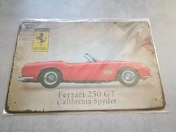 Ferrari billboard, plate, metal sign, retro nature