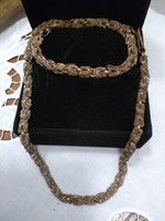 Bismark wire jewelry antique bronze color set