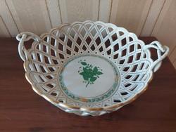 Herend apponyi pattern openwork basket