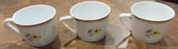 Hollóház porcelain mocha cups - 3 pcs.