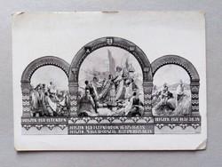Irredenta Hungarian National Association postcard, postman