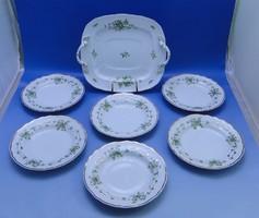 0B997 raven house porcelain cake set 7 pcs